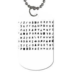 Zodiac killer  Dog Tag (One Side)