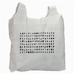 Zodiac killer  Recycle Bag (Two Side)