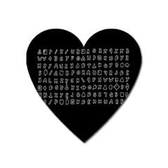 Zodiac killer  Heart Magnet