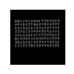 Zodiac killer  Small Satin Scarf (Square)