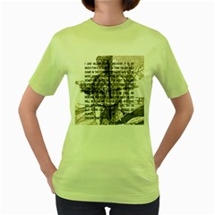 Zodiac killer  Women s Green T-Shirt