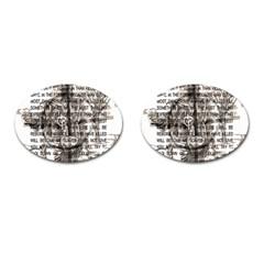 Zodiac killer  Cufflinks (Oval)