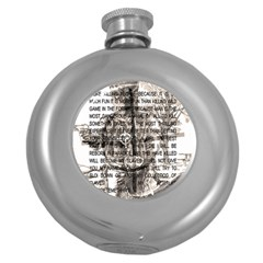 Zodiac killer  Round Hip Flask (5 oz)