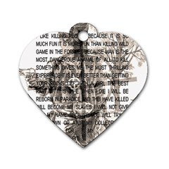 Zodiac killer  Dog Tag Heart (One Side)