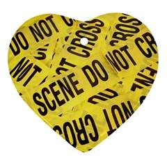 Crime scene Ornament (Heart)
