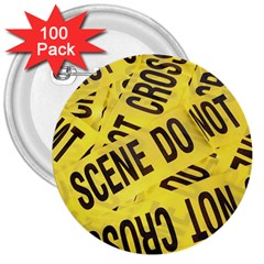 Crime scene 3  Buttons (100 pack)