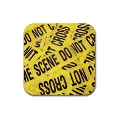 Crime scene Rubber Coaster (Square)
