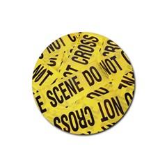 Crime scene Rubber Coaster (Round)