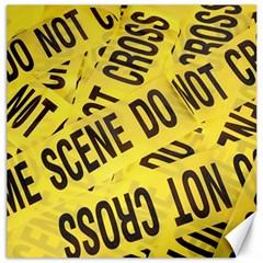 Crime scene Canvas 16  x 16