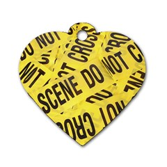 Crime scene Dog Tag Heart (One Side)