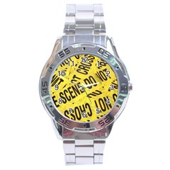 Crime scene Stainless Steel Analogue Watch