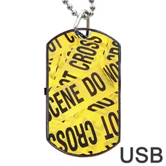 Crime scene Dog Tag USB Flash (One Side)