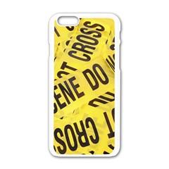Crime scene Apple iPhone 6/6S White Enamel Case