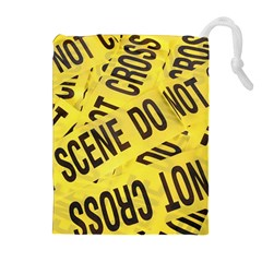 Crime scene Drawstring Pouches (Extra Large)