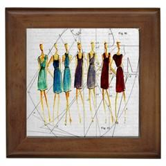 Fashion sketch  Framed Tiles