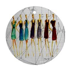 Fashion sketch  Ornament (Round)