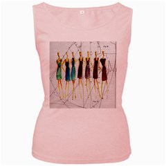 Fashion sketch  Women s Pink Tank Top