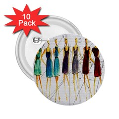 Fashion sketch  2.25  Buttons (10 pack)
