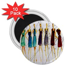 Fashion sketch  2.25  Magnets (10 pack)