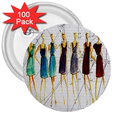 Fashion sketch  3  Buttons (100 pack)