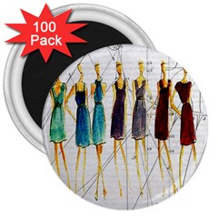 Fashion sketch  3  Magnets (100 pack)