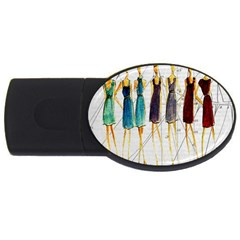 Fashion sketch  USB Flash Drive Oval (1 GB)