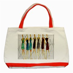 Fashion sketch  Classic Tote Bag (Red)