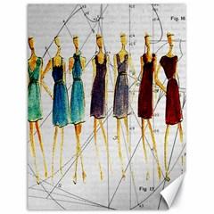 Fashion sketch  Canvas 18  x 24