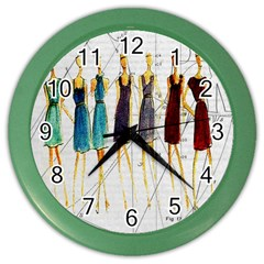 Fashion sketch  Color Wall Clocks
