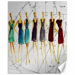 Fashion sketch  Canvas 11  x 14