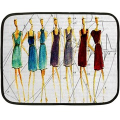 Fashion sketch  Double Sided Fleece Blanket (Mini)