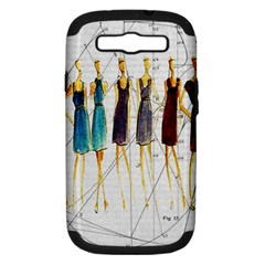 Fashion sketch  Samsung Galaxy S III Hardshell Case (PC+Silicone)