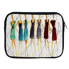 Fashion sketch  Apple iPad 2/3/4 Zipper Cases