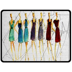 Fashion sketch  Double Sided Fleece Blanket (Large)