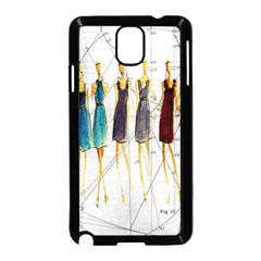 Fashion sketch  Samsung Galaxy Note 3 Neo Hardshell Case (Black)