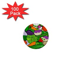 Vegetables  1  Mini Buttons (100 pack)