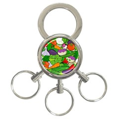 Vegetables  3-Ring Key Chains