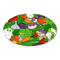 Vegetables  Oval Magnet