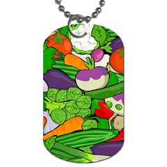 Vegetables  Dog Tag (One Side)