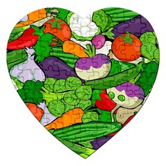 Vegetables  Jigsaw Puzzle (Heart)