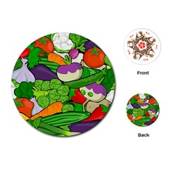 Vegetables  Playing Cards (Round)