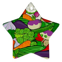Vegetables  Star Ornament (Two Sides)