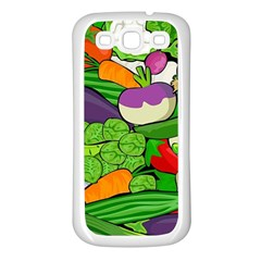 Vegetables  Samsung Galaxy S3 Back Case (White)