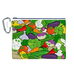 Vegetables  Canvas Cosmetic Bag (L)