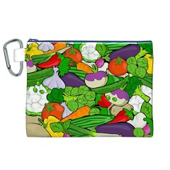 Vegetables  Canvas Cosmetic Bag (XL)