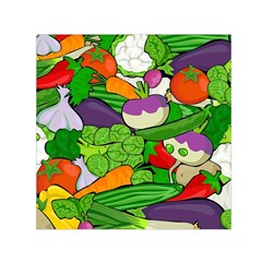 Vegetables  Small Satin Scarf (Square)