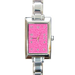 Pink pattern Rectangle Italian Charm Watch