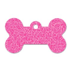 Pink pattern Dog Tag Bone (One Side)