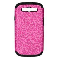 Pink pattern Samsung Galaxy S III Hardshell Case (PC+Silicone)
