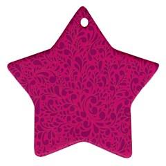 Pink pattern Ornament (Star)